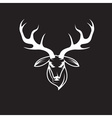 deer head design template vector image