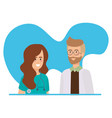 doctors couple with stethoscopes characters vector image