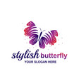 elegant butterfly vector image vector image
