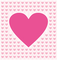 Frame border shaped from pink heart on light pink vector image vector image