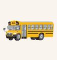 funny cute hand drawn cartoon school bus vector image vector image