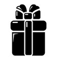gift box icon simple style vector image