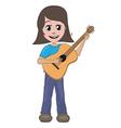 girl playing guitar vector image vector image
