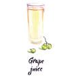 grape juice watercolor vector image vector image