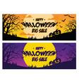 happy halloween big sale banner vector image vector image