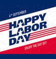 happy labor day greeting card design vector image vector image