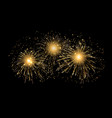 holiday fireworks background happy new vector image vector image
