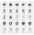 icons documents and mail vector image vector image
