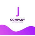 j company logo design with purple theme vector image