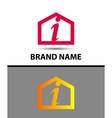 Letter I logo real estate symbol vector image vector image