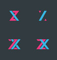 letter z and x symbol design vector image