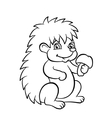 little hedgehog in the forest vector image vector image