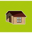 log cabin design vector image