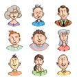 Men and women set vector image vector image
