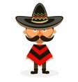 Mexican in a sombrero vector image vector image