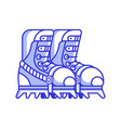 mountain climbing boots icon vector image