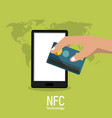 nfc technology icons vector image