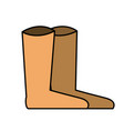 nice boots isalated icon vector image