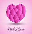Polygon Heart vector image vector image