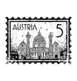postmark of austria vector image vector image