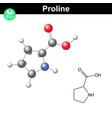 Proline heterocyclic amino acid vector image vector image