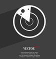 radar icon symbol Flat modern web design with long vector image vector image