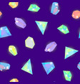 realistic detailed 3d color crystal stone seamless vector image vector image