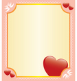 romantic card with hearts vector image