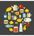 Round food label vector image