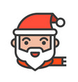 santa claus christmas related style design icon vector image vector image