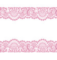 seamless pink lace vector image vector image