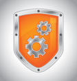 Security shield with tool settings vector image