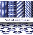set blue geometric vector image vector image