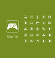 set of gaming simple icons vector image