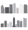 set skyscrapers isolated vector image vector image