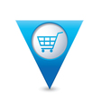 shop basket icon pointer blue vector image vector image