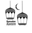 simple black Ramadan kareem vector image
