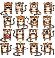 Smiley tigers vector image