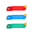 steps elements for web interface infograph vector image vector image