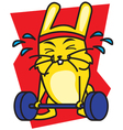 Strong Rabbit vector image vector image