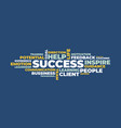 success word cloud concept vector image