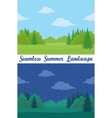 Summer Forest Seamless Landscapes vector image vector image
