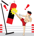 THAI KICKBOXING vector image vector image