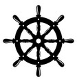 vintage steering wheel ship steering wheel vector image