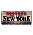 welcome to new york vintage rusty metal sign vector image vector image
