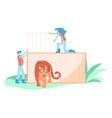 wild animal rescue concept vector image vector image