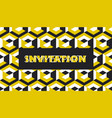 yellow and balck geometric concept pattern vector image vector image