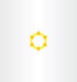 yellow star icon sun logo vector image vector image