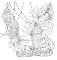 Festive hanging watercolor arabic lamps vector image