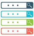 Set of search bars flat web design elements vector image